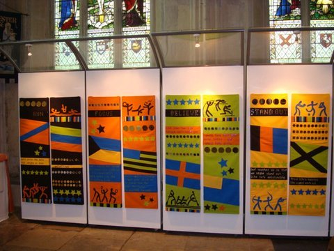 Running the Race Exhibition at Rochester Cathedral